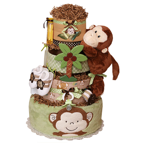 Jungle Monkeys Diaper Cake
